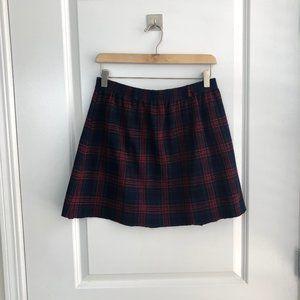 Raw Hem Plaid Mini Skirt